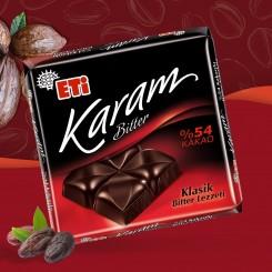 تابلت شکلات تلخ 54% ETI Karam
