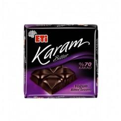 تابلت شکلات تلخ 70% ETI Karam