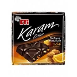 تابلت شکلات تلخ با مغز بادام و پرتقال ETI