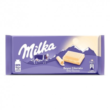 شکلات شیری سفید 80 گرمی میلکا