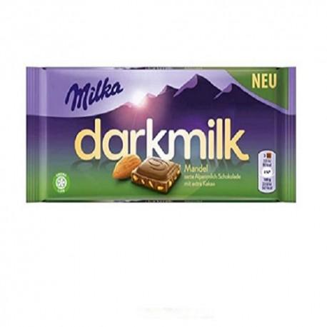 شکلات میلکا تلخ با مغز بادام 100 گرم