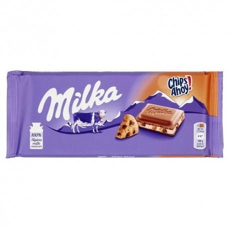 شکلات شیری چیپسی100 گرمی میلکا