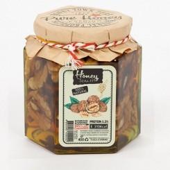 عسل طبیعی کرمی با مغز گردو 400گرم هانی تاون