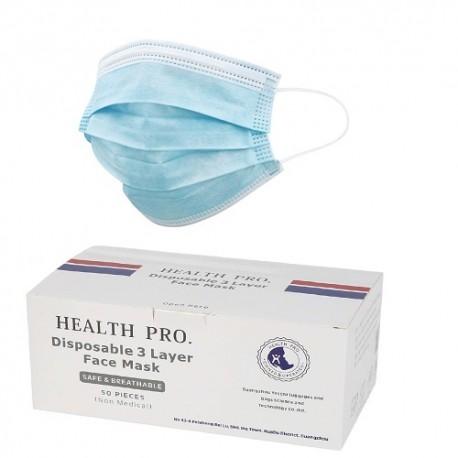 ماسک سه لایه پرستاری وارداتی Health Pro