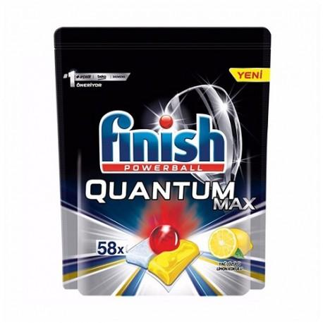 قرص ماشین ظرفشویی فینیش مدل Quantum Max Leamon بسته 58 عددی